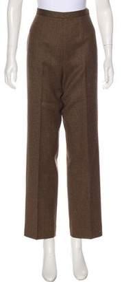 Albert Nipon Wool High-Rise Pants
