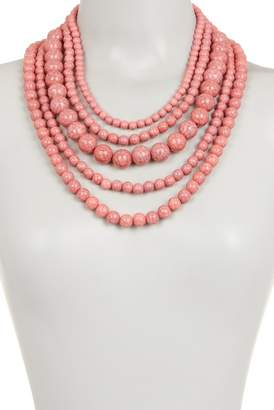 BaubleBar Globe Multistrand Beaded Necklace