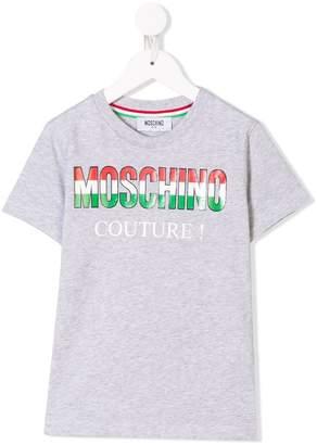 Moschino Kids Italian logo print T-shirt