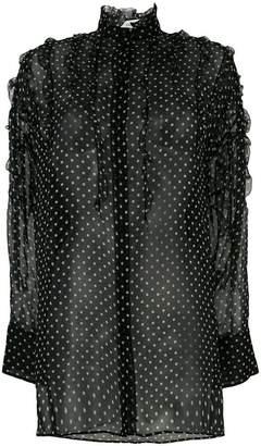 Valentino polka-dot ruffled blouse