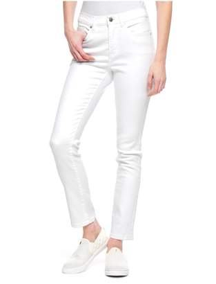 Juicy Couture White Mid Rise Skinny Jeans