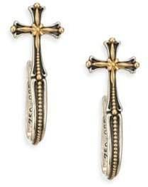 Konstantino Engraved Cross Earrings