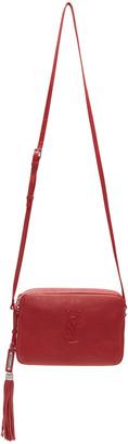 Saint Laurent Red Small Monogram Lou Camera Bag $995 thestylecure.com