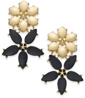 INC International Concepts I.n.c. Gold-Tone Stone Flower Drop Earrings, Created for Macy's