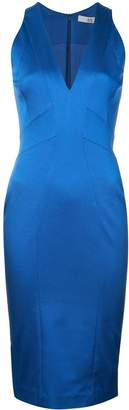 Zac Posen fitted silhouette v-neck dress