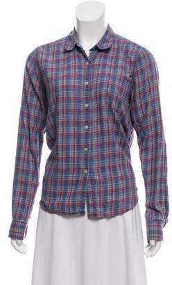 Steven Alan Plaid Button Down Top
