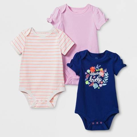 Cat & Jack Baby Girls' Bodysuit - Cat & Jack Blue