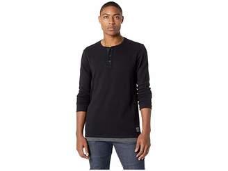 Scotch & Soda Long Sleeve Grandad T-Shirt w/ Fake Inner Layer