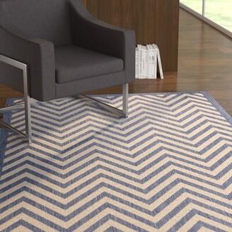Blue Area Ebern Designs Dunwoody Dark Rug Ebern Designs