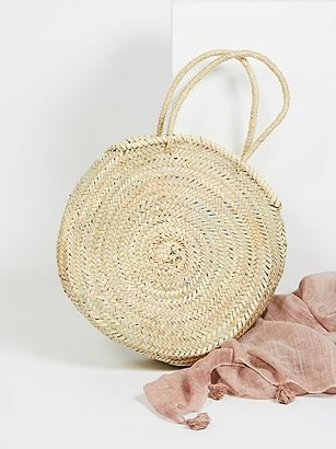 Marrakech Straw Basket by Miklos at Free People $68 thestylecure.com