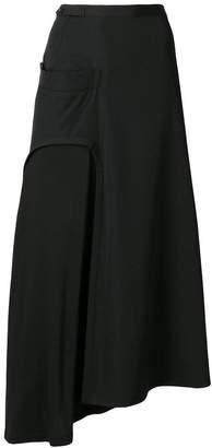 Yohji Yamamoto flared midi skirt