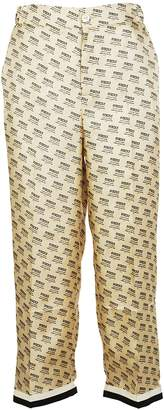 Gucci Stamp Silk Trousers