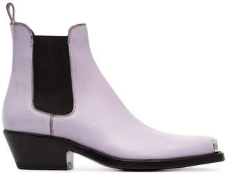 Calvin Klein Claire 40 Western Ankle Boots