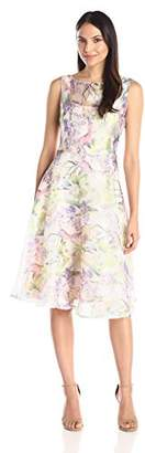 Julian Taylor Women's Floral Fit and Flare Dress
