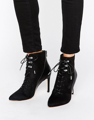Call it Spring Call It Spring Annebella Lace up Point Heeled Ankle Boots $91 thestylecure.com