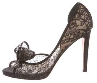 Valentino Lace d'Orsay Pumps