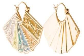 Alison Lou 14K Dollar Hoop Earrings yellow 14K Dollar Hoop Earrings