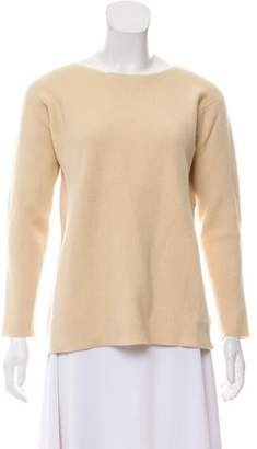 Calvin Klein Collection Long Sleeve Rib Knit Sweater