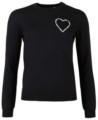 Love Moschino Love Heart Logo Knit