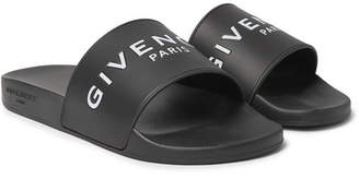 Givenchy Logo-Print Rubber Slides