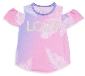 Chaser Little Girl's& Girl's Las Palmas Cold-Shoulder Tee