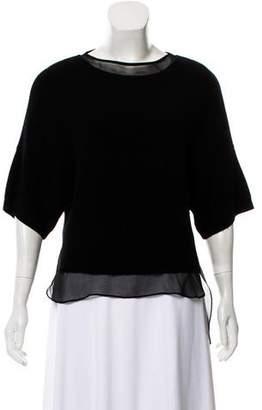 Robert Rodriguez Layered Wool Knit Short Sleeve Top
