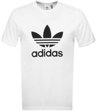 adidas Trefoil T Shirt White