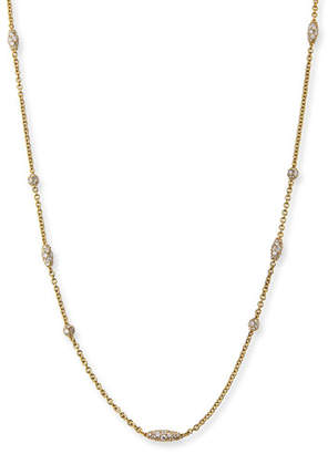 Paul Morelli Pipette 18K Diamond Station Necklace, 36""