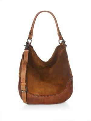 Frye Melissa Whipstitch Leather Hobo Handbag
