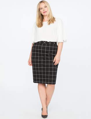 9-to-5 Windowpane Skirt