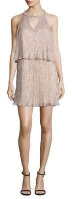 Ella Moss Cerine Metallic Tiered Keyhole Dress