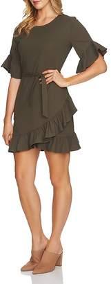1 STATE 1.STATE Ruffle Belted Mini Dress