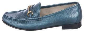 Gucci Niza Metallic Leather Loafers