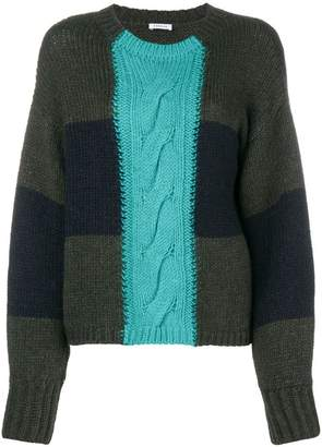 P.A.R.O.S.H. two-tone knit jumper