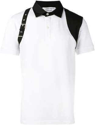 Alexander McQueen harness detail polo shirt