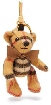 Burberry Thomas Bear Vintage Check Cashmere Key Ring - Womens - Brown Multi