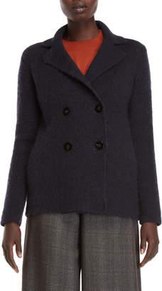 Roberto Collina Navy Double-Breasted Coat