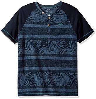 ProjekRaw Projek Raw Men's Short Sleeve Henley Marled Yarn