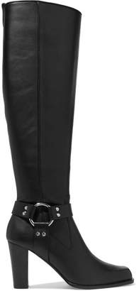 Altuzarra Lucy Leather Knee Boots - Black
