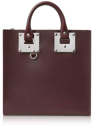 Sophie Hulme Oxblood Saddle Leather Square Albion Tote