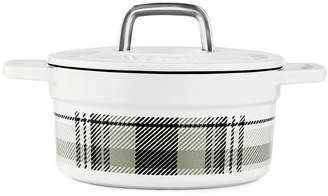 Martha Stewart Collection Collection CLOSEOUT! Grey Plaid 2-Qt. Enamel Cast Iron Dutch Oven, Created for Macy's & Reviews - Cookware & Cookware Sets - Kitchen - Macy's