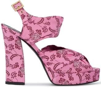 Erdem Kenna floral 120 platform sandals