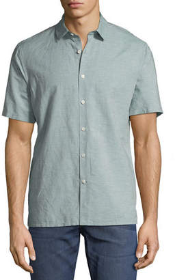Theory Murrary Short-Sleeve Linen Sport Shirt