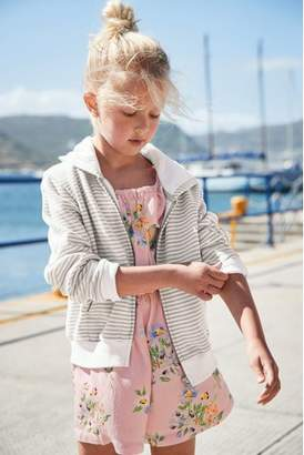 Next Girls Pink Viscose Playsuit (3-16yrs)