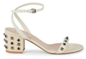 Valentino Rock Stud Block Heel Sandals