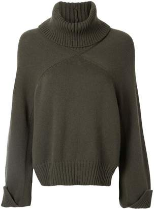 Rosetta Getty cropped panelled jumper
