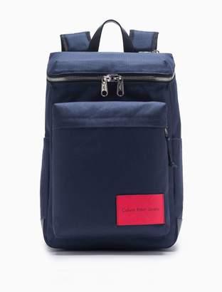 Calvin Klein monogram logo nylon zip-around backpack