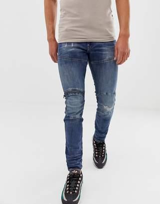 5780a10b30d7 G Star G-Star elwood skinny fit super stretch denim jean in mid wash with