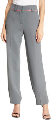 Emporio Armani P45 Piped Silky Cady Pants