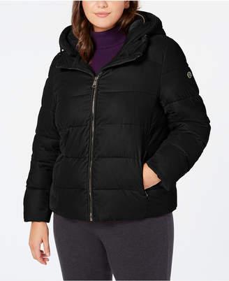 d9532106c47 Calvin Klein Plus Size Hooded Puffer Coat